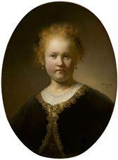 Altın İşlemeli Pelerin İçinde Genç Kız, 1632
