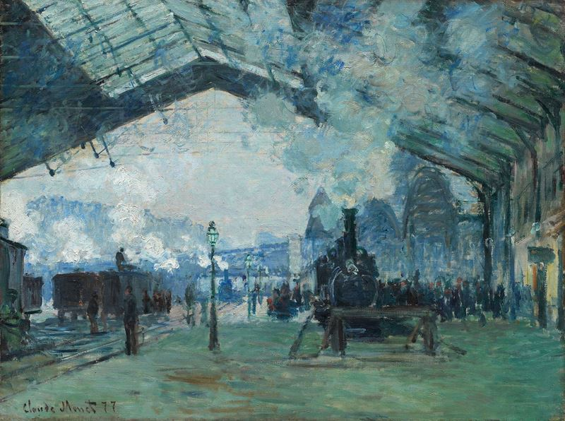 Saint-Lazare Garı, Normandiya Treninin Varışı, 1877 resmi