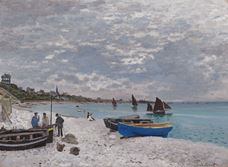 Show The Beach at Sainte-Adresse, 1867 details