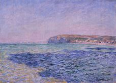 Show Shadows on the Sea. The Cliffs at Pourville, 1882 details