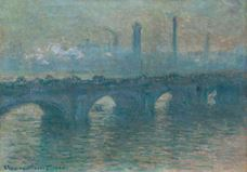 Show Waterloo Bridge, Gray Weather, 1900 details