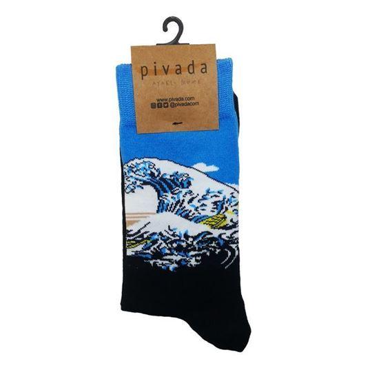 Hokusai - Kanagawa'nın Büyük Dalgası - Çorap