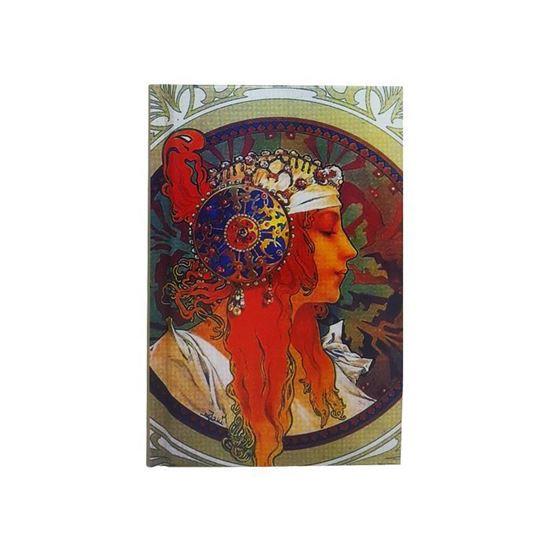 Mucha - Bizans Bayan Başı - Küçük Boy Defter