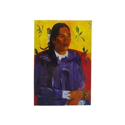 Gauguin- Çiçekli Kadın - Küçük Boy Defter
