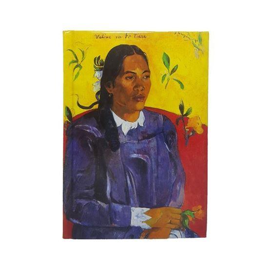 Gauguin- Çiçekli Kadın - Orta Boy Defter