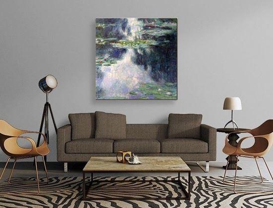 Monet- Nilüferler - Kanvas Tablo