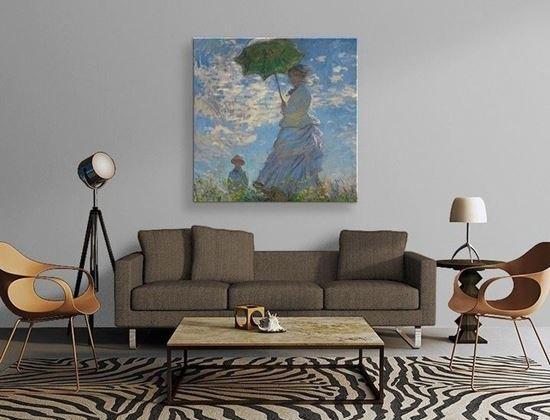 Monet - Şemsiyeli Kadın - Kanvas Tablo
