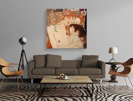 Klimt - Kadının Üç Çağı - Kanvas Tablo