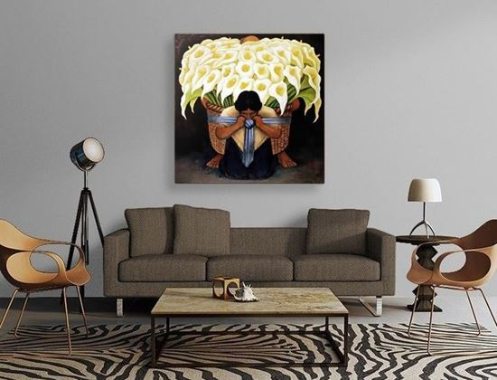 Rivera - Çiçek Satıcısı - Kanvas Tablo
