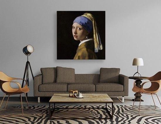 Vermeer - İnci Küpeli Kız - Kanvas Tablo