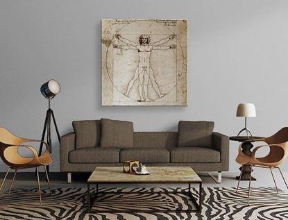 Da Vinci - Vitruvius Adamı - Kanvas Tablo