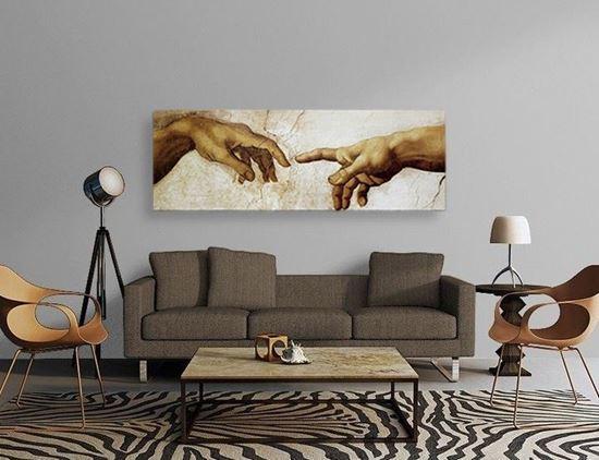 Michelangelo - Âdemin Yaratılışı - Kanvas Tablo