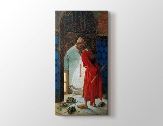 Osman Hamdi Bey - Kaplumbağa Terbiyecisi - Kanvas Tablo