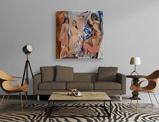 Picasso - Avignonlu Kızlar - Kanvas Tablo