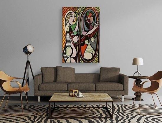 Picasso - Ayna Karşısındaki Kız - Kanvas Tablo