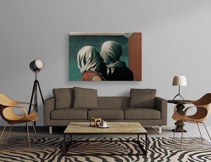 Magritte - Âşıklar - Kanvas Tablo