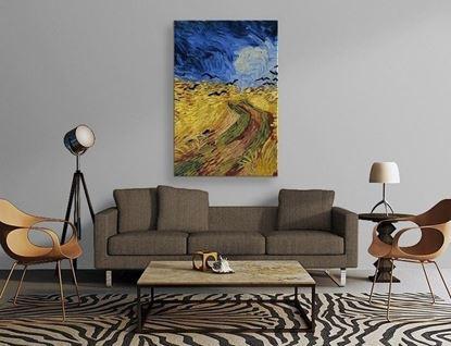 Van Gogh - Buğday Tarlası ve Kargalar - Kanvas Tablo