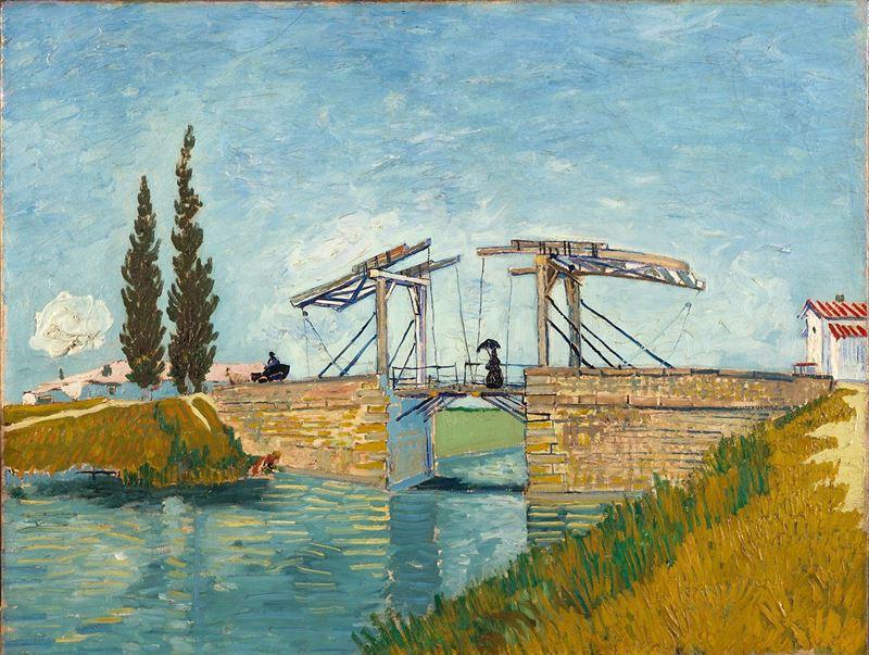 Arles'daki Langois Köprüsü, 1888 resmi