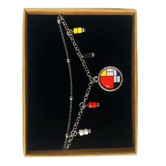 Mondrian - Kırmızı, Sarı, Mavi ve Siyah ile Kompozisyon - Bileklik