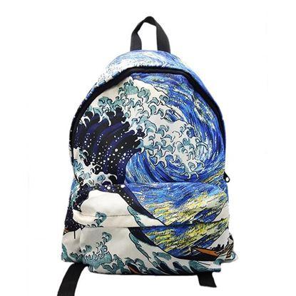 Hokusai - Kanagawa'nın Büyük Dalgası - Sırt Çantası