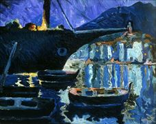 Show Port of Cadaqués (Night), c. 1918 details