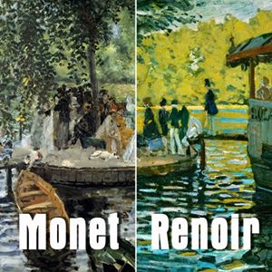 Picture of La Grenouillère - Monet ile Renoir