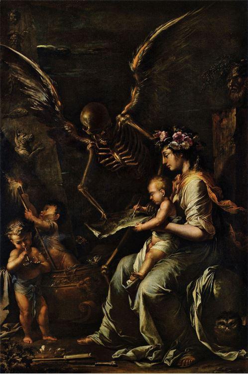 İnsan Hayatının Kısırlığı / 1656 dolayları - Salvator Rosa picture