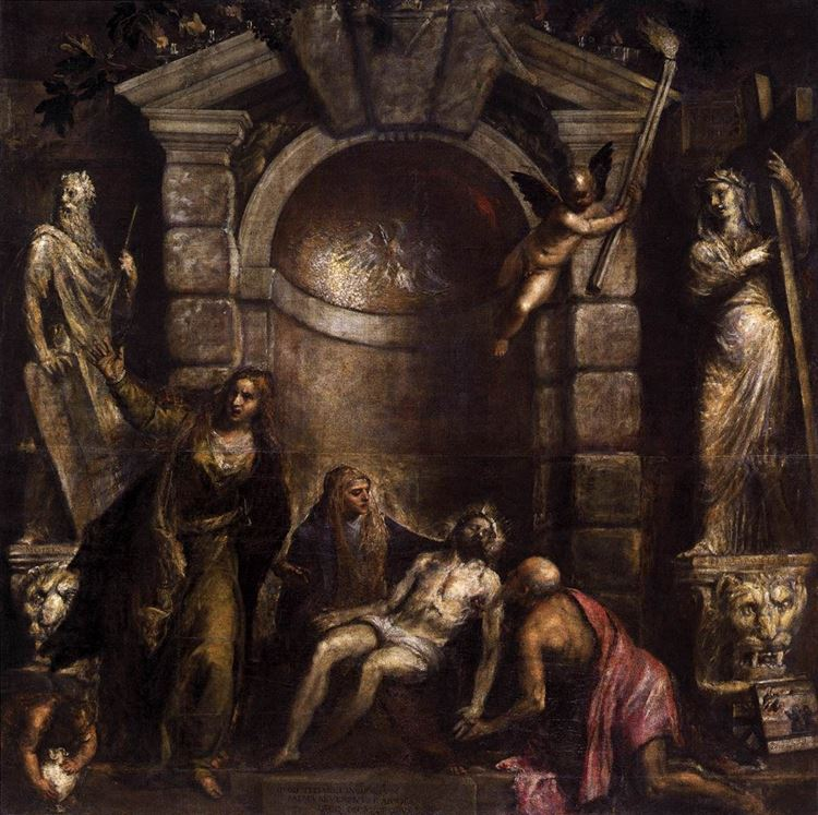 Pietà  / 1576 dolayları - Tiziano Vecellio picture