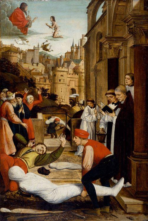Aziz Sebastian 'ın Veba Saldırısı için Müdahalesi / 1497 dolayları - Josse Lieferinxe picture