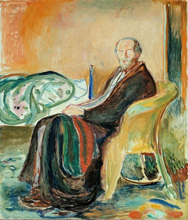 İspanyol Gribi ile Kendi Portresi / 1919 - Edvard Munch picture