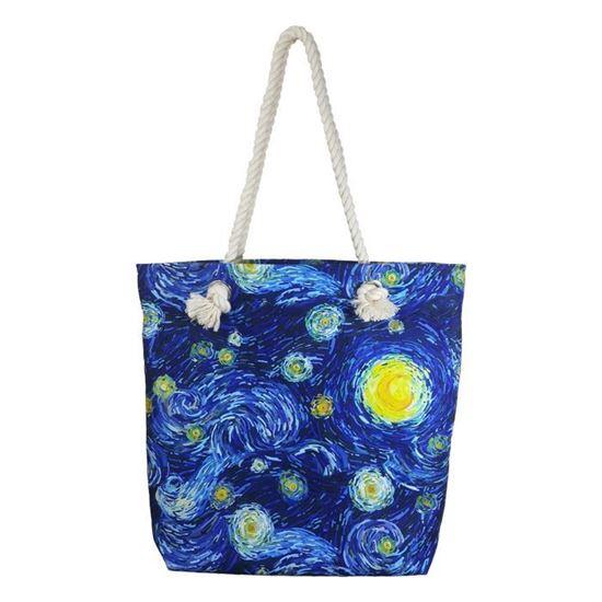 Van Gogh - Yıldızlı Gece – Halat Askılı Omuz Çantası
