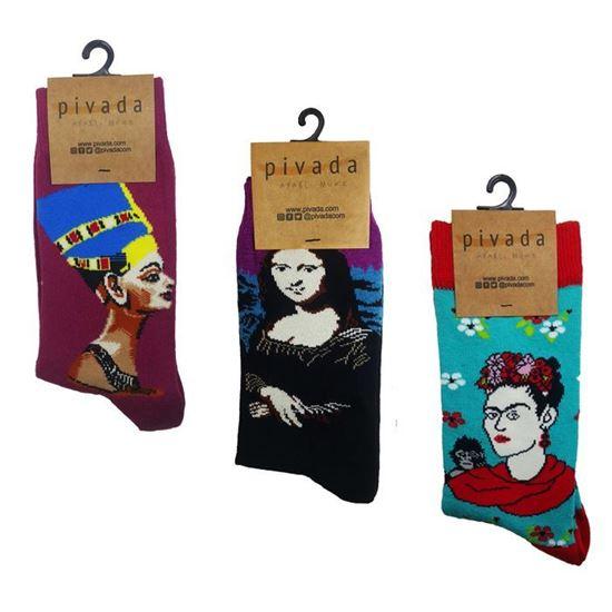 3'lü Paket Çorap - Ressamlar Serisi -III-