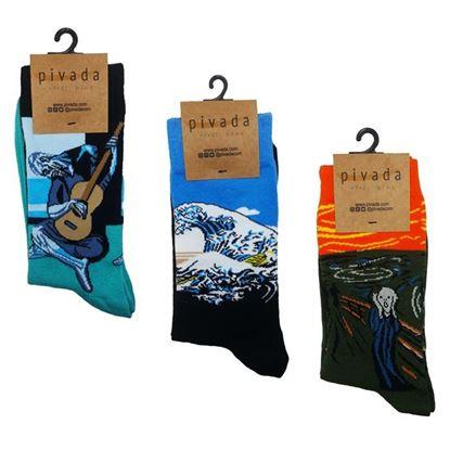 3'lü Paket Çorap - Ressamlar Serisi -XI-