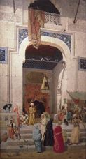 Show At the Mosque Door, 1891 details