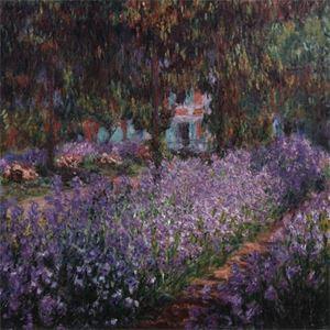 Picture of Giverny'de Bahçe ve Nilüferler - Claude Monet