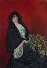 Mimozalı Kadın, 1906