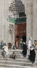 Show In Front of the Green Mosque, 1882 details