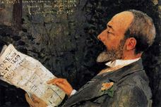 Show Portrait of His Cousin Tevfik Reading L'Aurore, 1899 details