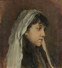 Show Young Girl Portrait (Artist's Daughter Leyla), 1891 details