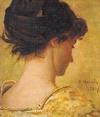 Show Genç Kadın Portresi (Sanatçının Eşi Naile Hanım), 1897 details