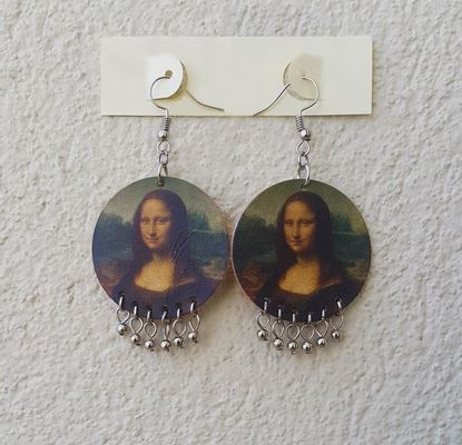 Da Vinci - Mona Lisa - Deri Küpe