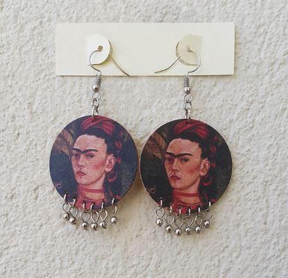Frida - Otoportre - Deri Küpe
