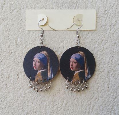 Vermeer - İnci Küpeli Kız - Deri Küpe
