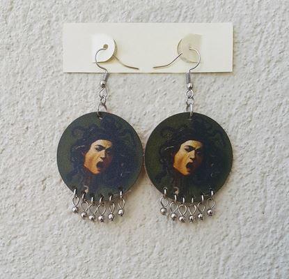 Caravaggio - Medusa - Deri Küpe