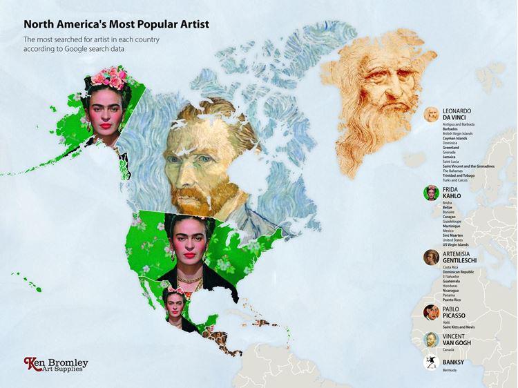 Kuzey Amerika'nın En Popüler Sanatçısı