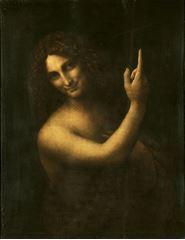 Show Vaftizci Yahya, 1513-1516 dolayları, Ahşap üzerine yağlıboya, 69 x 57 cm, Musée du Louvre, Paris, Fransa. details