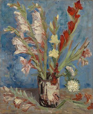 Show Vazoda Glayöl ve Saraypatı, 1886, Tuval üzerine yağlıboya, 46.5 cm x 38.4 cm, Van Gogh Museum, Amsterdam, Hollanda. details