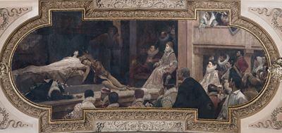 Show Burgtheatre'dan duvar süslemesi, 1886, Burgtheatre, Vienna, Avusturya. details