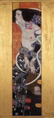 Show Judith II (Salome), 1909, Tuval üzerine yağlıboya, 176 x 46 cm, Galleria d'Arte Moderna di Ca' Pesaro, Venice, İtalya. details