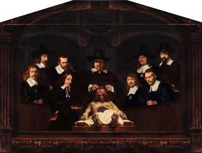 Show Dr. Deijman'ın Anatomi Dersi, 1656, Tuval üzerine yağlıboya, 100 x 134 cm, Amsterdam Museum, Amsterdam, Hollanda. details
